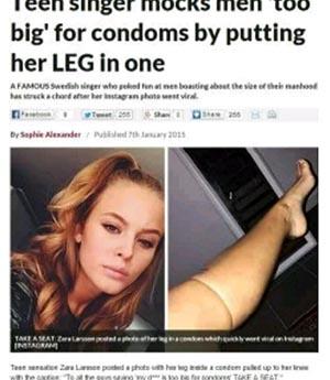 世界5位の美顔歌手がコンドームを素足に履いて…